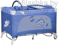 Детский манеж-кровать Bertoni (Lorelli) Travel Kid Roker Blue Baby Owl