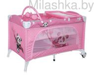 Детский манеж Bertoni (Lorelli) Travel Kid 2 Pink Panda