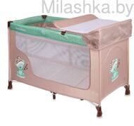 Детский манеж San Remo 2 Beige Green Sleeping Bear